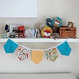 Detské doplnky - Textilná girlanda - lesný motív - 12060365_