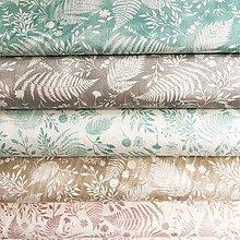 Textil - papradie, 100 % bavlna Francúzsko, šírka 150 cm - 12060493_