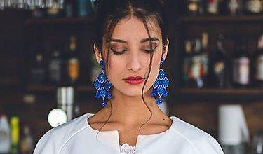 Náušnice - náušnice Sofia (modré) - 12060549_