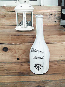 Dekorácie - Námornícka fľaša - 12060675_