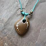 Náhrdelníky - Bodky (kamenný prívesok) - 12061245_