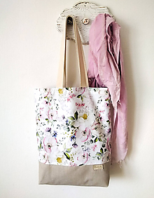 Nákupné tašky - Rozkvitnutá taška - 12061446_