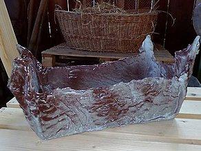 Nádoby - Betónový handmade obal, aranžmán - 12061201_