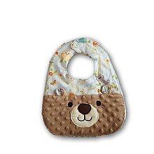 Textil - Detský podbradník Macko - 12061044_
