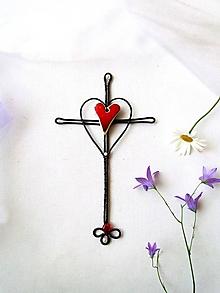 Dekorácie - krížik * 20 cm - 12062773_