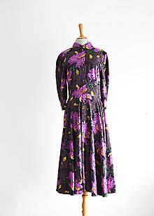 Šaty - Upcy košeľové šaty z vintage viskózy - 12063479_