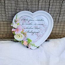 Rámiky - Rámik s poďakovaním pre učiteľku, romantický s ružičkami - 12065789_