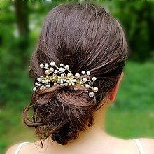 Ozdoby do vlasov - Zlatá ozdoba do vlasov - 12066115_