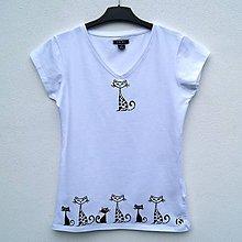 Tričká - Dámské tričko Miaou - 12063807_
