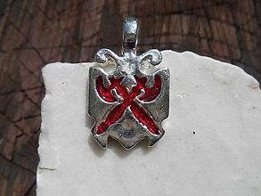 Šperky - pre rytierov-bojovníkov:,,erb,, (červený ,,erb,,) - 12064753_