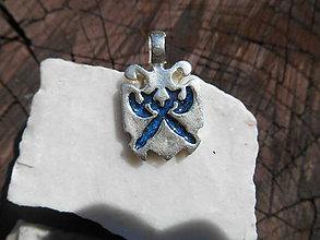 Šperky - pre rytierov-bojovníkov:,,erb,, (modrý ,,erb,,) - 12064761_