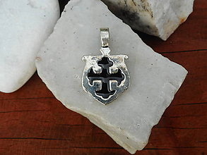 Šperky - cross stredovek amulet (cross black) - 12064820_
