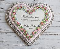 Dekorácie - Srdce pre novomanželov - 12064374_