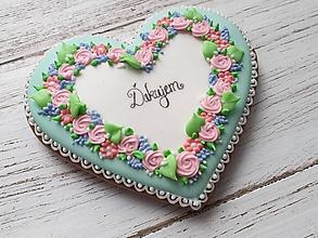 Dekorácie - Srdce s kvetmi - 12064320_