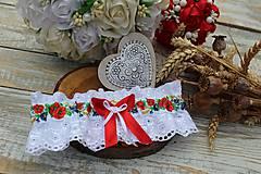 Bielizeň/Plavky - Svadobný podväzok - 12063878_