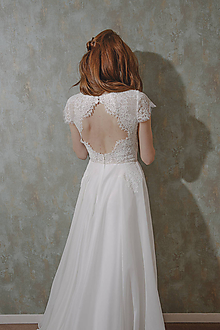 Šaty - Svadobné šaty s holým chrbátom - 12064185_