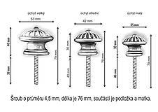 Nábytok - Úchytka - knopka černá velká - vzor BÁBOVKA - 12064573_