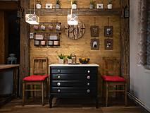 Nábytok - Úchytka - knopka černá velká - vzor BÁBOVKA - 12064577_