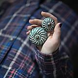 Nábytok - Úchytka - knopka černá velká - vzor BÁBOVKA - 12064581_