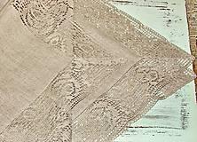 Úžitkový textil - Obrus 100% ľan - 12065310_