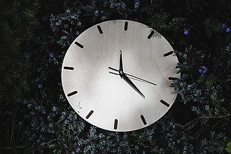 Hodiny - Nástenné hodiny z preglejky - 12063911_