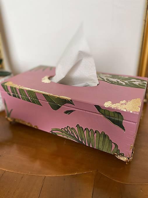 Krabička na servítky Tropical