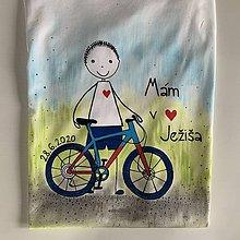 Detské oblečenie - Maľované tričko na pamiatku prvého svätého prijímania (pre chlapca) - 12063773_