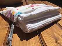 Textil - súprava-biela deka pre chlapčeka - 12065912_