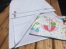 Textil - súprava-biela deka pre dievčatko - 12065955_