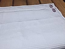 Textil - súprava-biela deka pre dievčatko - 12065957_