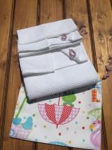 Textil - súprava-biela deka pre dievčatko - 12065960_