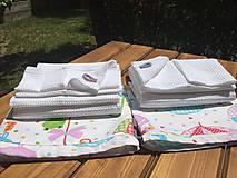 Textil - súprava-biela deka pre dievčatko - 12065965_