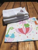 Textil - súprava-biela deka pre dievčatko - 12065975_