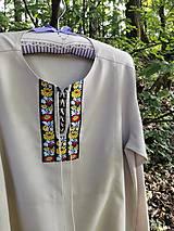 Košele - Ľanová, ľudová košeľa - 12064727_
