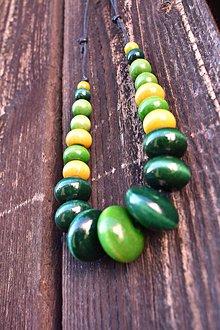 Náhrdelníky - Zelenožltý mix - 12064997_