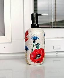 Nádoby - dávkovač na mydlo vlčí mak a nevädza - 12067030_