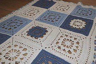 Textil - Veľká detská EKO bavlnená deka - 12068884_
