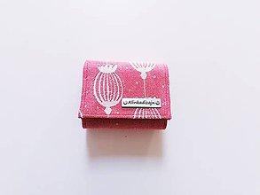 Peňaženky - Priehradková malá peňaženka zo scrapu Sestrice poppy red - 12069615_