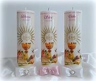 Svietidlá a sviečky - Prvé sväté prijímanie (Ružová) - 12069610_