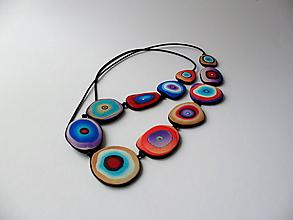 Náhrdelníky - ,,Kolieska farebné,, - 12069907_