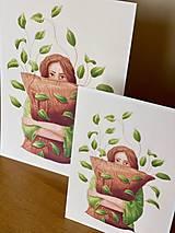 Grafika - Lenivý víkend - Print | Botanická ilustrácia - 12067841_