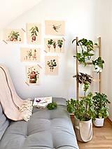 Grafika - Lenivý víkend - Print | Botanická ilustrácia - 12067842_