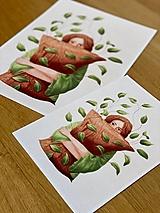 Grafika - Lenivý víkend - Print   Botanická ilustrácia - 12067843_