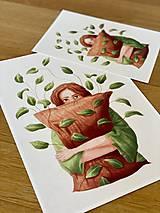 Grafika - Lenivý víkend - Print | Botanická ilustrácia - 12067844_