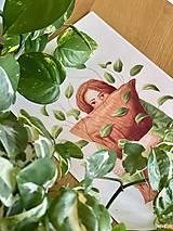 Grafika - Lenivý víkend - Print | Botanická ilustrácia - 12067847_