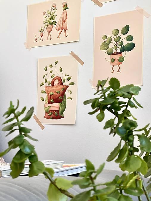 Lenivý víkend - Print   Botanická ilustrácia