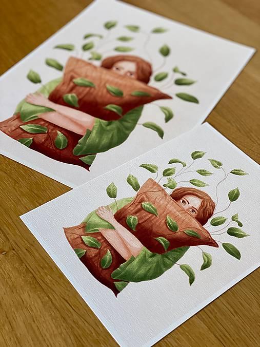 Lenivý víkend - Print | Botanická ilustrácia