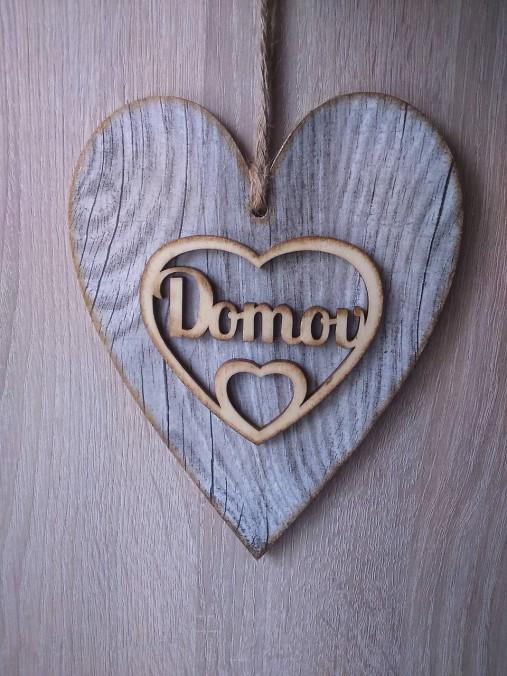 Dekoračné srdce DOMOV