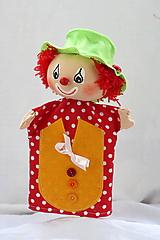 Hračky - Maňuška. Bábika Klaun Oskar - 12067875_