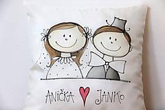 Úžitkový textil -  obliečka SVADOBNÁ- dodatočná úprava - 12069419_